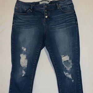 Torrid cropped skinny jeans